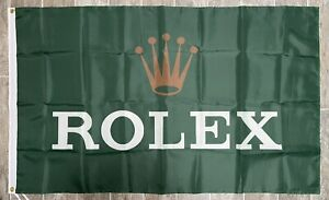 Rolex Logo Flag 3X5 Garage Shop Wall Banner Advertisement Daytona Racing