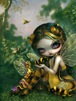 Jasmine Becket-Griffith art print bee dragon fairy SIGNED Bumblebee Dragonling