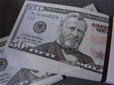 100 pieces USD ,$50 Bills Play Money,Bundle Prop Money Actual Size Magic props