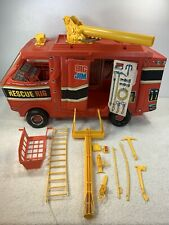 Mattel Big Jim Rescue Rig Play Set with some Accessories 1973 Truck Ladder 9403