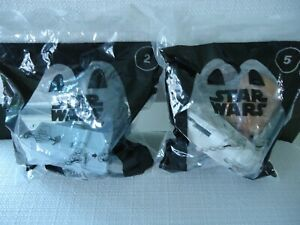 McDonalds 2021 Lot of 2 Happy Meal Toys Star Wars, Darth Vader #2 & Chewbacca #5