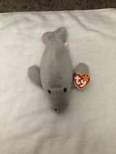 Epic 1995 Retired Ty Beanie Baby Manny The Manatee With Extremely Rare Misspell
