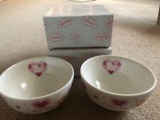 (2) Vintage Hello Kitty Kidsland 1976 1999 bowls glassware - Super Rare - Pics