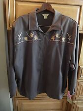 2 Pc Casual Pants Suit, Zip Front Jacket Chocolate Brown 3X 24  NEW w/TAGS $104