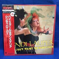 SEALED Cyndi Lauper Girls Just Want To Have Fun Japan 12 Single Record 12 3P-509