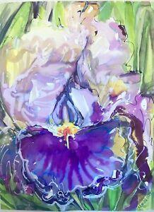 IRIS 2  Original Watercolor Painting