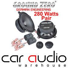 Ground Zero 280 Watts a Pair 13cm 2 Way Car & Van Component Kit Door Speakers