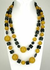 Art Deco Bakelite pair of vintage green and yellow necklaces 1930s Germany