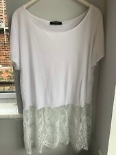 TwinSet By Simona Barbieri White Top With  Lace