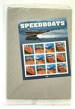 Vintage Mahogany Speedboats USPS .41 Stamp Sheet X 12 2007 Sealed
