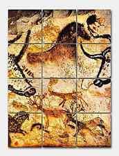 Prehistoric Lascaux Detail Ceramic Mural Backsplash Kitchen 13x17 in