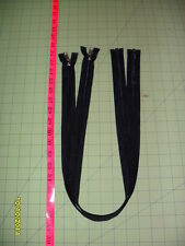 "33"" YKK Nylon Coil SEPARATING Zipper (Black in Color) - Lot of 2"