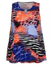 Autograph Plus Size 14 Black Blue Purple Orange Tunic Top Fits Plus Size 18 BNWT