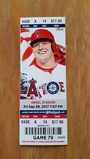 Mike Trout Home Run 200 Angels Mariners Season Ticket Stub 9/29/17 Mint MLB
