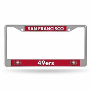 San Francisco 49ers Lightweight Chrome Metal License Plate Frame
