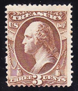 US Scott O74 old 3c Treasury Dept. official stamp M/NH/OG CV $230