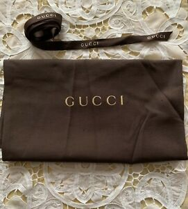 """Gucci Large Dust Bag & Satin Logo 93"""" Gift Ribbon New Authentic"""