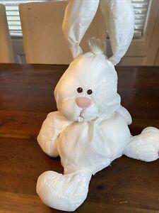 "Vintage 1986 Fisher Price Puffalump 16"" White Plush Bunny Rabbit! RARE!"