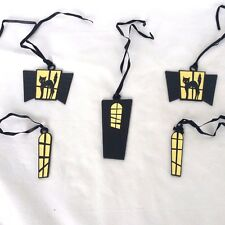 lot of 5 Haunted House Halloween Tie ons Only Longaberger No Basket New