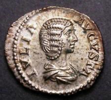 207 AD AEF/EF Julia Domna Ancient Roman Silver Denarius Hammered Coin