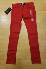 THRILL Womens Juniors Size 1 Red Skinny Jeans