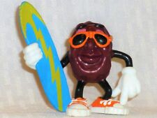 "California Raisin, Blue Surf Board, 3"" Tall, PVC, RARE, Collectible"