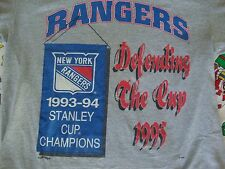 Vintage 90's NHL New York Rangers 1994 Stanley Cup Champions Gray T Shirt XL