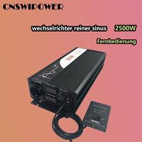 wechselrichter reiner sinus 48v/24v/12v 230v 2500 watts spannungswandler solar
