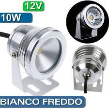 FARO FARETTO COB LAMPADA A LED BIANCO FREDDO 10W 12V ESTERNO PISCINE FONTANE SC0