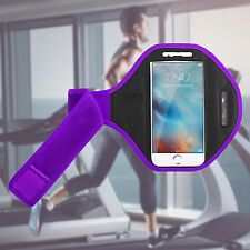 Gym Running Jogging Arm Band Sports Armband Case Holder Strap for Apple iPhones Apple iPhone 7 Purple