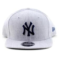 New York Yankees New Era Cap MLB 9Fifty Flat Brim Hat In Grey