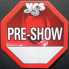**** YES **** - SATIN BACKSTAGE PASS - FULL CIRCLE WORLD TOUR - 2002 - PRE-SHOW