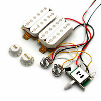 Strat Electric Guitar Pre-wired Pickups Humbucker HH 3-Way Switch Wiring Harness