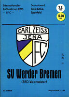 IFC 03.08.1985 FC Carl Zeiss Jena - SV Werder Bremen, InterToto Cup