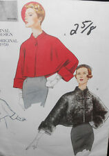 New Vtg 1950 Original Vogue LINED JACKET Sewing Pattern 2934 S 8-10 FF OOP 50's