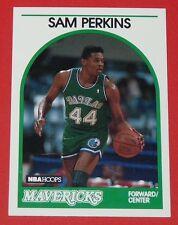 # 286 SAM PERKINS MAVERICKS DALLAS 1989 NBA HOOPS BASKETBALL CARD