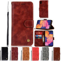 luxury Flip Leather Stand Card Slots Wallet Case Cover For Samsung Galaxy A10e