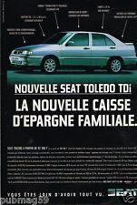 Publicité advertising 1996 Nouvelle Seat Toledo TDi