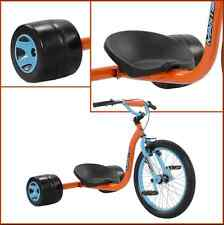 Adult Tricycle Drift Trike Downhill Coaster Slider Youth Bicycle Blue Orange 20""