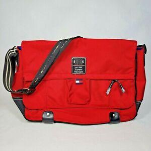 Tommy Hilfiger Laptop Messenger Bag Carry-On Travel RED Nylon
