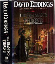 DAVID EDDINGS - THE DIAMOND THRONE: Book One Of The Elenium (HCDJ; 1st Ed; 1989)
