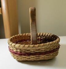 Basket Wood Woven Handmade Vinegar and Oil