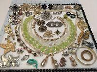 Vintage Necklace Bracelet Earrings Pin LOT Jewelry Monet JJ Signed & Unsigned