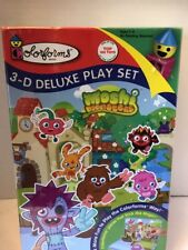 Moshi Monsters Colorforms 3D Deluxe Play Set Kids Game Fun