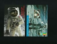 2 FDC Postcards Stamps USA America First Man on the Moon Landing Apollo Space