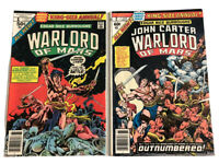 Warlord of Mars #1 & #2 John Carter Edgar Rice Burroughs 1977 Marvel Comics