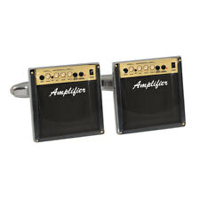 Novelty Amplifier Cufflinks in Gift Box electric marshall guitarist musician