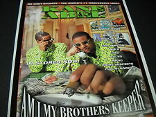 KANE & ABEL with piles of cash MASTER P reference 1988 PROMO DISPLAY AD mint con