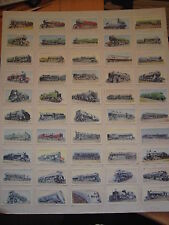 "BARGAIN. WILLS CIGARETTE CARDS ""RAILWAY ENGINES"" COMPLETE SET (SEE DISCRIPTION)"