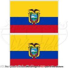 ECUADOR Flagge, Südamerika, Ecuadorianisch Fahne Vinyl Sticker Aufkleber 10cm x2